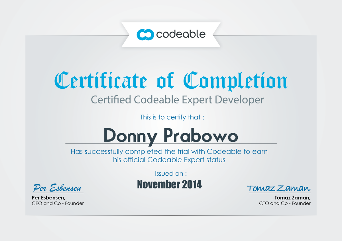 Donny Prabowo CodeAble Certificate