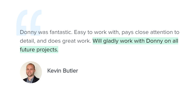 Testimonial Kevin Butler